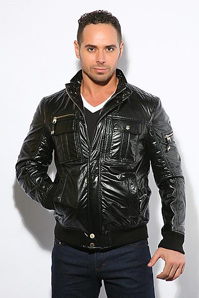 Кожаная куртка Bally