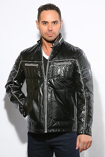 Кожаная куртка Moschino