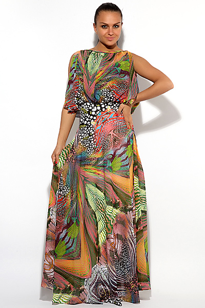 Шелковые вечерние платья от кавалли