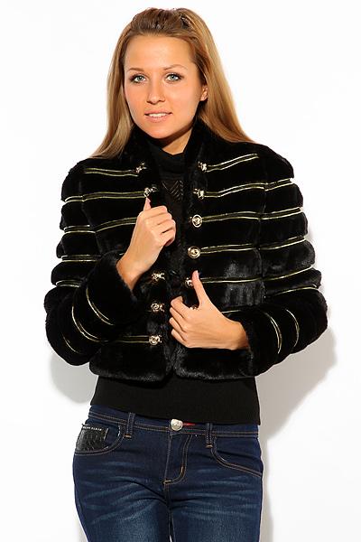 Меховой пиджак Alexander McQueen