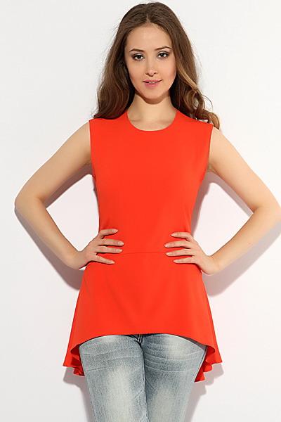 Оранжевая Блузка Валентино